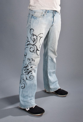 custom silk screen jeans