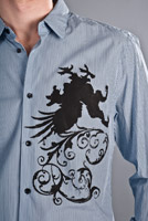 gryphon design on dress shirt